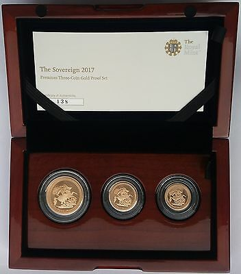 2017 Gold Proof Sovereign Premium 3 coin set.