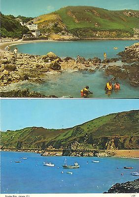 Two Old Postcards Of Bouley Bay Jersey