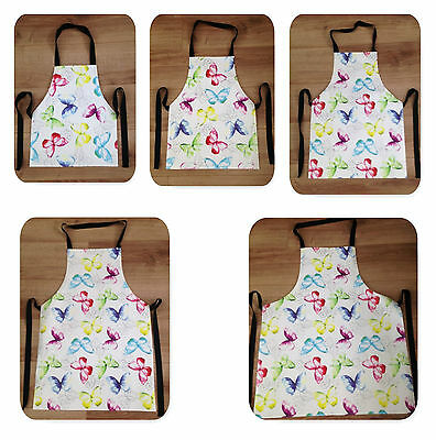Butterflies Wipe Clean PVC Apron - Adult & Child Sizes Available