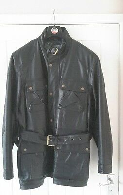 Classic genuine leather motorcycle jacket (mens 41/43in)