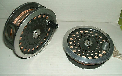 "HARDY Bros. ""The SUNBEAM"" 9/10 SALMON REEL with EXTRA SPOOL for FLY FISHING"