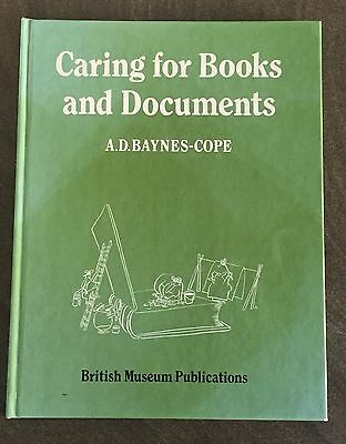 A.d. Baynes-Cope-Caring For Books And Documents British Museum Publications 1982