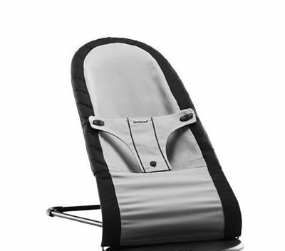 New BabyBjorn Fabric Seat Cover for Babysitter Balance Bouncer Black Silver Cot
