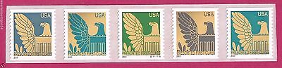 Scott #3794-3798 2003 American Eagle Plate #S1111111 Strip of 5 MNH