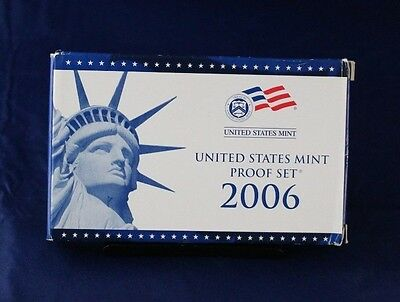 2006 United States 10 coin Proof Set in Box with COA  (X3/38)