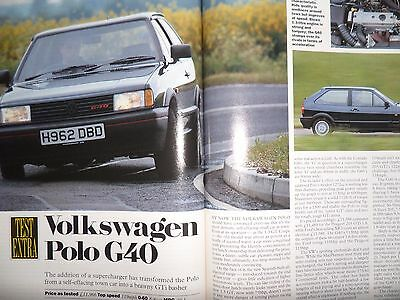 "Volkswagen Polo G40 Coupe 1991 ""Autocar"" Road Test Magazine"