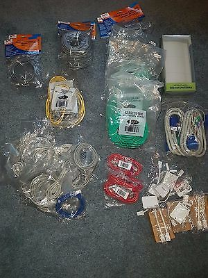 Job lot of network cables and ADSL filters