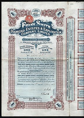 1921 South Africa: Frank Smith Diamond Estates & Exploration Company