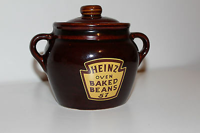 Vintage HEINZ OVEN BAKED BEANS 57 pottery Crocks WESTERN STONEWARE MONMOUTH L@@K