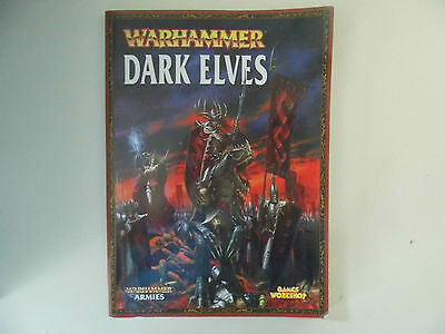 Warhammer Armies Dark Elves, Games Workshop Book - Used and in Good Condition