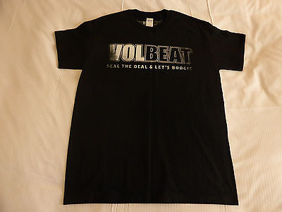 """VOLBEAT official """"Seal The Deal & Let's Boogie"""" Mens T-shirt - Medium - NEW"""