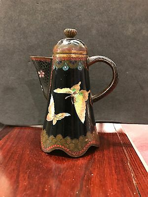 A Late 19th Century Japanese Meiji Period Cloisonne Water Ewer Jug