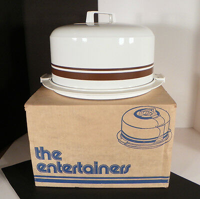 Vintage Kromex Cake Carrier with Cover The Entertainer in Original Box