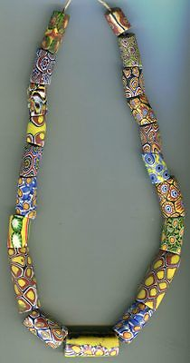African Trade beads glass Vintage Venetian glass mixed millefiori beads