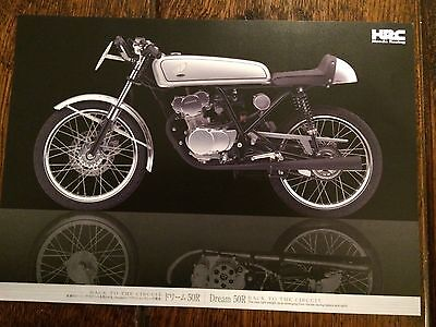 Honda Dream 50 R Sales Brochure 50R. Honda 50. HRC. DOHC Race Bike