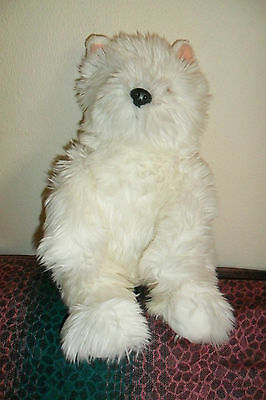 A GREAT LARGE SOFT WHITE SCOTTIE TERRIER? DOG by BEAR FACTORY 32 cm high