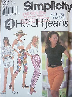 Simplicity Easy 4 Hour Jeans & Shorts Sewing Dressmaking Pattern