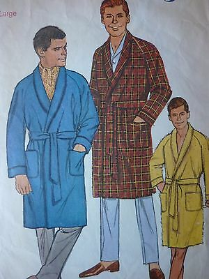 Vintage 1960's Men's Robes Sewing Dressmaking Pattern In A Large Size