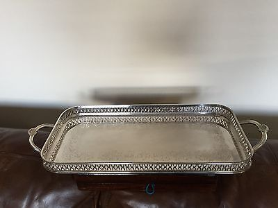 Beautiful Quality Silver Plated Rectangular Gallery Tray Cavalier (Spt9891)