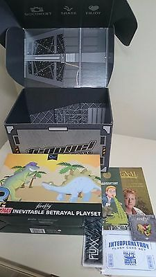 Firefly Loot crate WASH dino set,large shirt, pin, flashcards pin AND pop figure