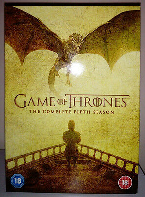 GAME OF THRONES SEASON 5 6th COMPLETE 5 DVD NEW