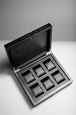 RAINER watch box for 6 watches made from solid wood! Brand new!