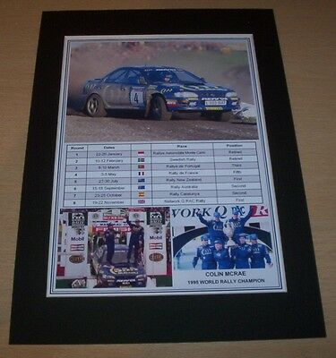 Colin McRae - 1995 World Rally Champion Print Mounted To A4