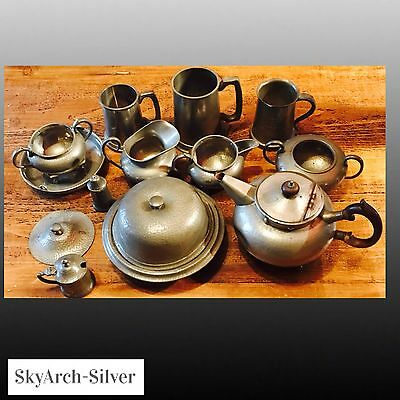 PEWTER Job Lot X 13 Pieces SOME SCRAP SOME NOT 3230g Heavy NO RESERVE