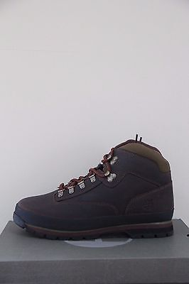 Timberland Men's Classic Leather Euro Hiker Brown Boots