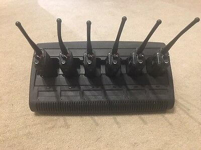 6 X Motorola DP3400 UHF and Impres charger