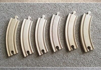 8 x Large Curved Wooden Train Track (Brio, Thomas ELC)