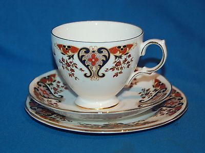 "Colclough ""Royale"" Floral & Scrolls Pat 8525 trio cup saucer and plate"