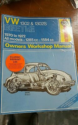 Vw beetle T1  70-72 Haynes workshop manual