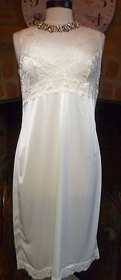 Vintage Style Marks & Spencer Ultra Femme Cream Full Slip Nightdress Sz14
