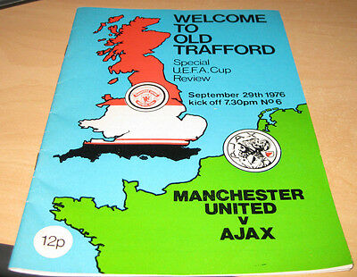 Manchester United UEFA Cup Review v Ajax September 197
