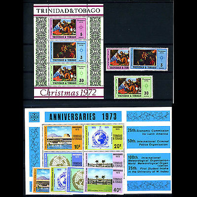 TRINIDAD & TOBAGO Selection 12 Values & 2 Miniature Sheets MLH & MNH (AM062)