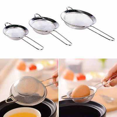 3 x STAINLESS STEEL TEA STRAINER WIRE MESH CLASSIC TRADITIONAL FILTER SIEVE SET