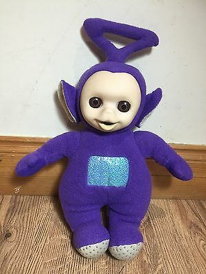 Original Teletubbies Soft Toy. Tinky Winky. Vintage Close Eyes Lay Down