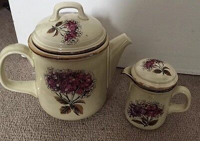 Vintage  Kerry Celtic Ironstone  made in Ireland Teapot And Small Jug