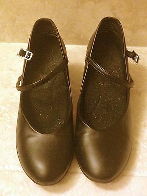 Capezio Black Character Shoes Black - 7 M