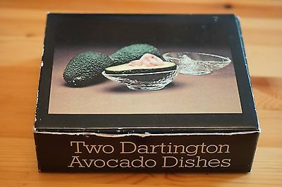 2 Dartington Crystal Avocado Dishes FT137 Frank Thrower Design 1st Quality Boxed