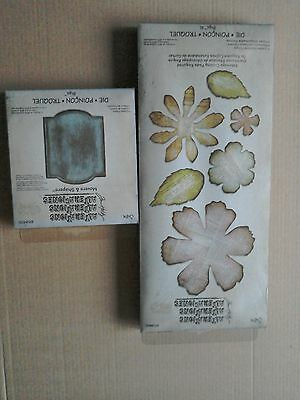 Sizzix bigz dies- Jumbo tattered florals  XL and Cameo frame