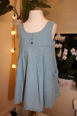 Next - Vintage- Blue Soft Cotton -Pinafore Dress - Baby Girl 18 - 24 Months