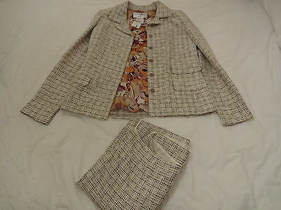 Genuine Chanel  Multi-Coloured Two Piece Skirt Suit Size 40/12