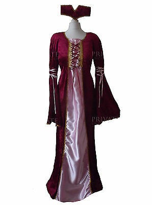 New Renaissance Medieval Princess Maid Marion Fancy dress Costume 12-14 Book Day