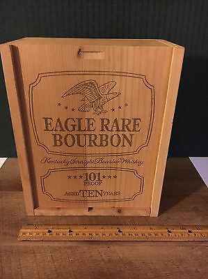 Vintage LARGE Wooden Eagle Rare Kentucky Straight Bourbon Whiskey BOX ONLY