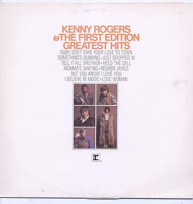 """Kenny Rogers And The First Edition - Greatest Hits - 12"""" Vinyl Lp (New Zealand)"""
