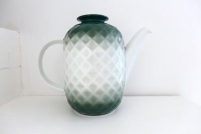 VTG Mid Century Modern THOMAS GERMANY LARGE TEXTURED White Green COFFEE TEA POT