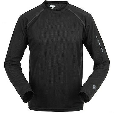 SALOMON Outdoor Long Sleeve Hiking Quick Dry T Shirt Men ultraviolet protection