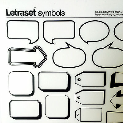 NEW SHEET LETRASET RUB ON TRANSFERS Assorted Advertising Flashes